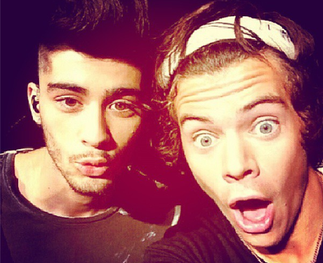 Harry Styles And Zayn Malik Pose During Promo Duties For