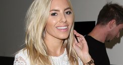 Mollie King is seen at LAX Airport