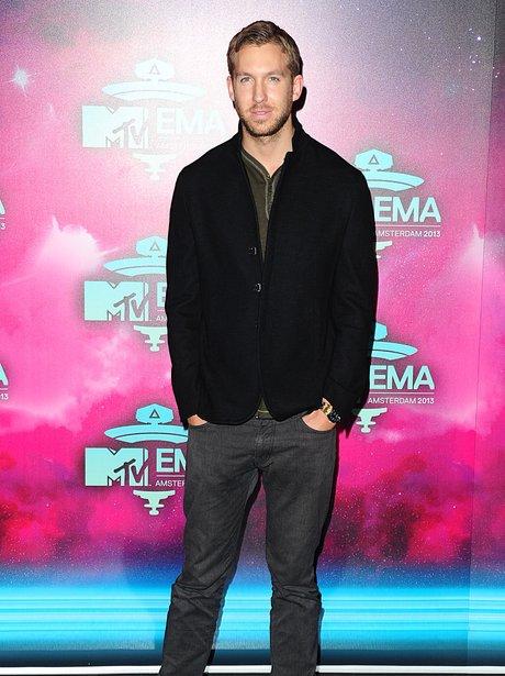 Calvin Harris on the MTV EMAs 2013 Red Carpet