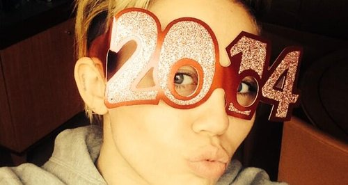 miley cyrus celebrating new year's eve
