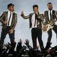 Bruno Mars performs at the Super Bowl 2014