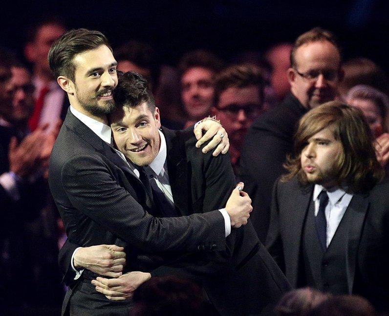 Bastille winners at the Brit Awards 2014