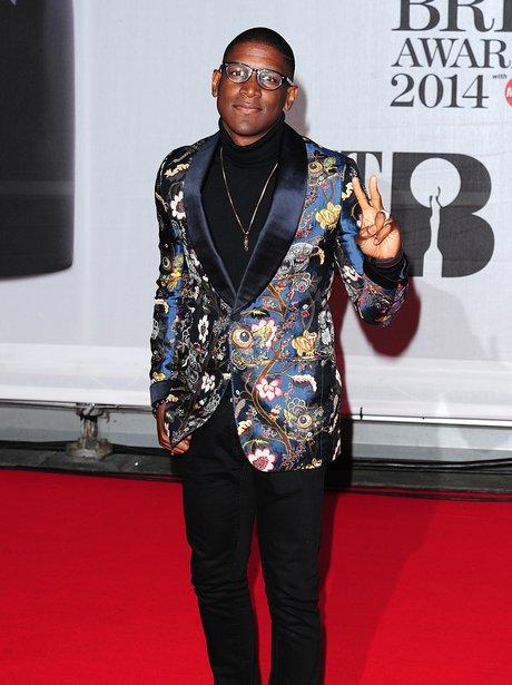 Labrinth BRIT Awards 2014 Red Carpet