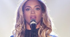 "Beyonce performs onstage on her ""Mrs. Carter Show"