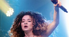 Ella Eyre performs on stage