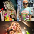 Rita Ora Fashion: Neon