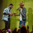Pharrell Williams and Usher live at Coachella
