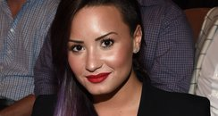 Demi Lovato attends the UFC 175 event in Las Vega