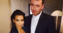 Sam Smith with Kim Kardashian