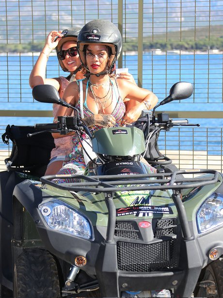 Rihanna rented a quad with a friend in Corsica