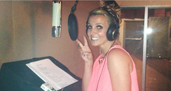 Britney Spears in the studio