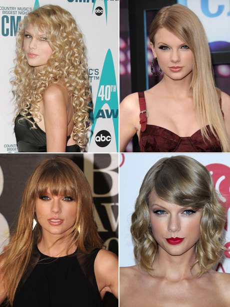 Taylor Swift's hair transformations