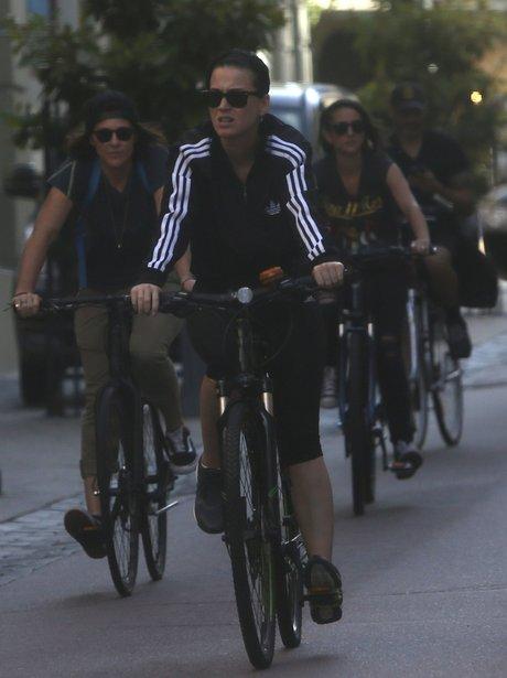 Katy perry on a bike