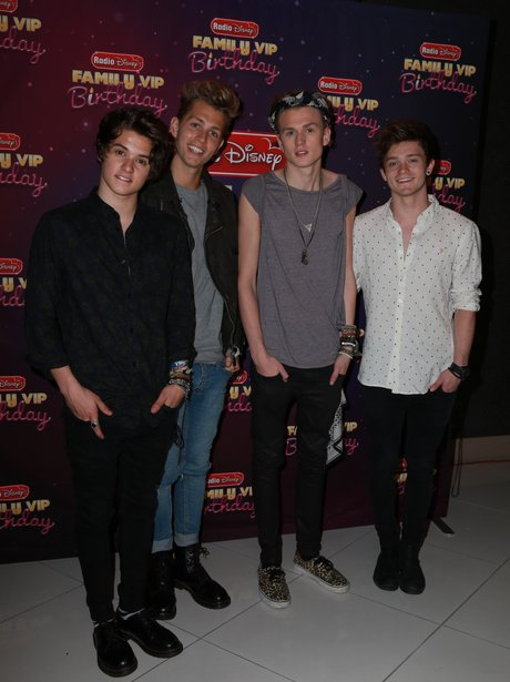 The Vamps attend a Disney Family Birthday