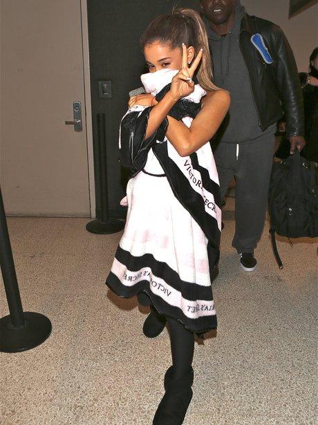 Ariana Grande Hiding Airport