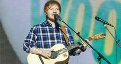 Ed Sheeran at the Jingle Bell Ball 2014