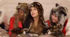 Ariana Grande Santa Tell Me video still