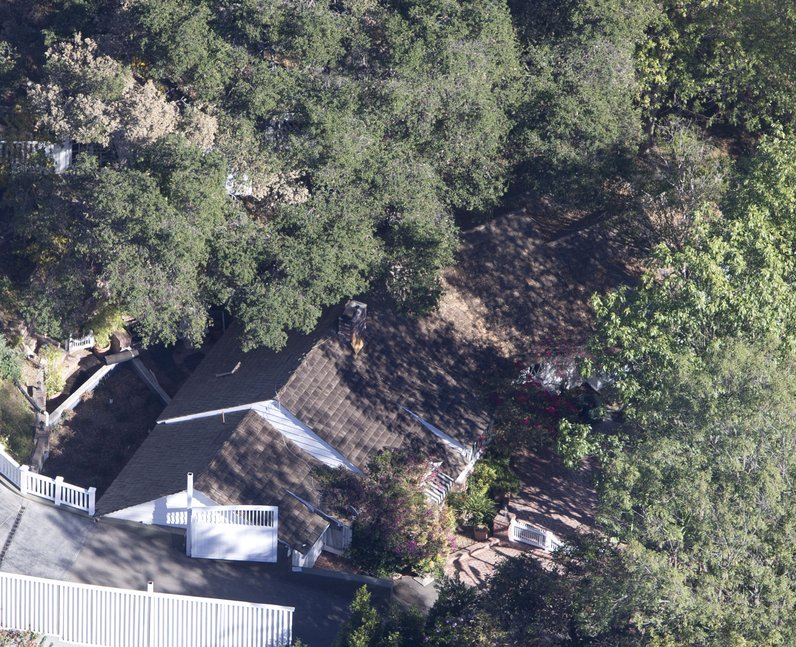 ariel view of calvin harris home