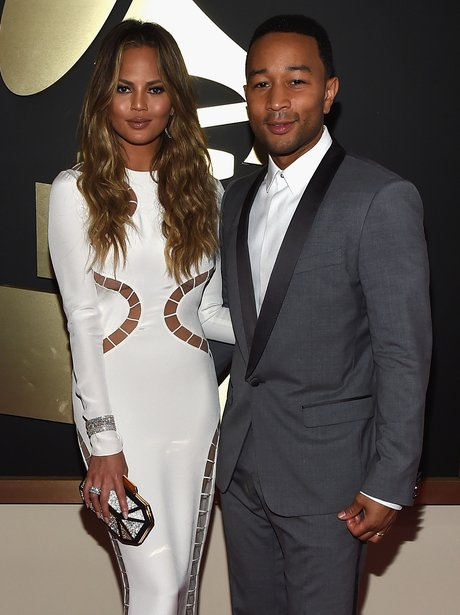 Chrissy Teigen and John Legend Grammy Awards 2015