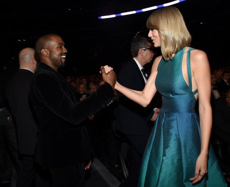 Kanye West and Taylor Swift at the Grammy Awards 2