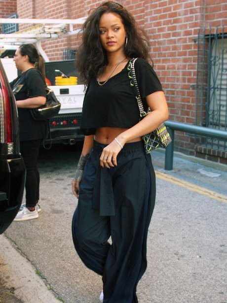 Rihanna in crop top