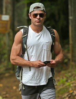 Zac Efron Hiking