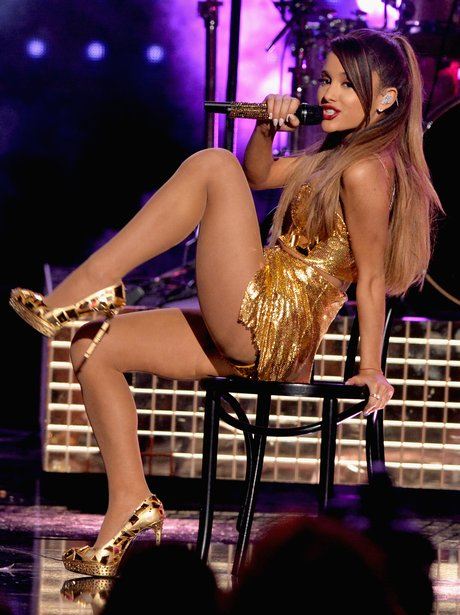 Ariana Grande Gold Outfit