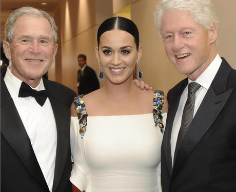 Katy Perry, George Bush and Bill Clinton