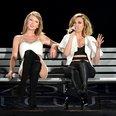 Rachel Platten and Taylor Swift performing