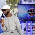 Tinie Tempah backstage at Fusion Festival 2015