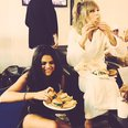 Selena Gomez and Taylor Swift Eating Burgers