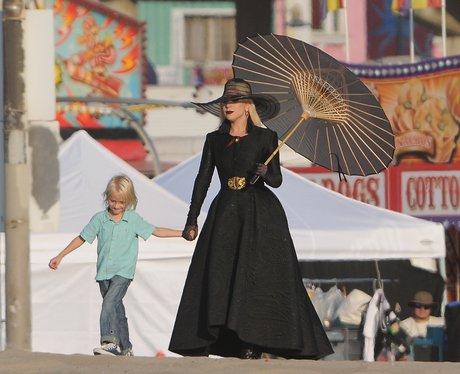 Lady Gaga filming