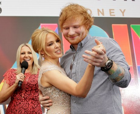 Ed Sheeran and Kylie Minogue ARIA Awards 2015