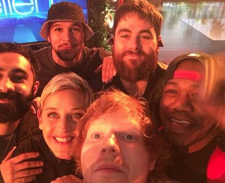 Ed Sheeran, Rudimental, Ellen DeGeneres Twitter