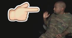 Kanye West Finger Emoji