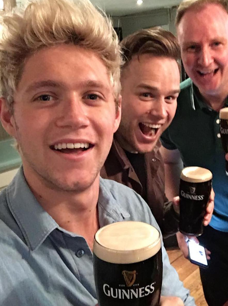 Niall Horan celebrates St Patricks Day with Olly M