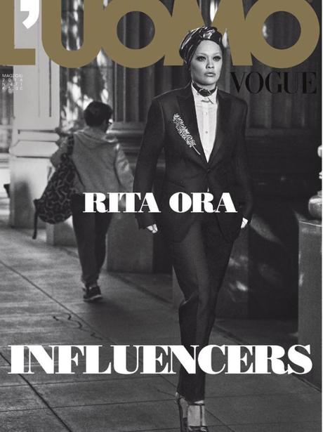 Rita Ora on the cover of L'Uomo Vogue