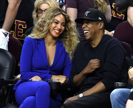 Beyonce and Jay-Z at the 2016 NBA Finals
