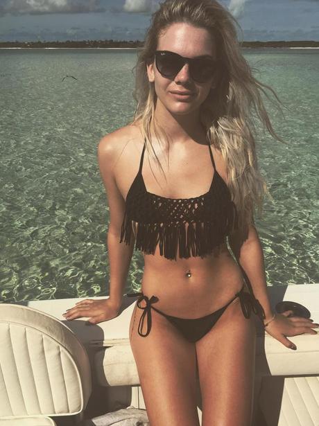 Louisa Johnson shows off her bikini body on holida