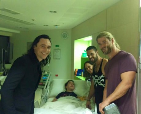Chris Hemsworth and Tom Hiddleston Bringing Calyn