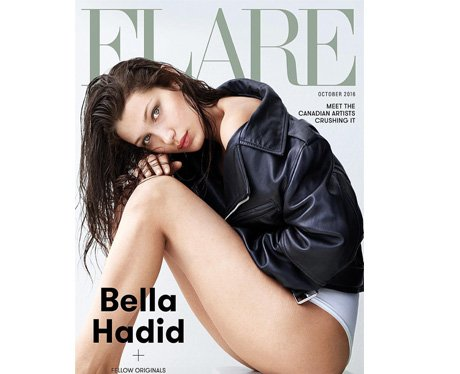 Bella Hadid on the cover of Flare magazine