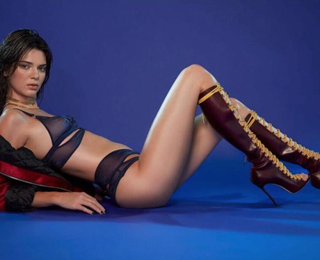 Kendall Jenner poses for LOVE Magazine