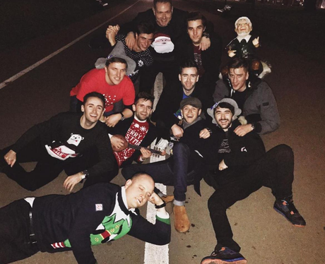 Celebs celebrating Christmas Niall Horan and frien