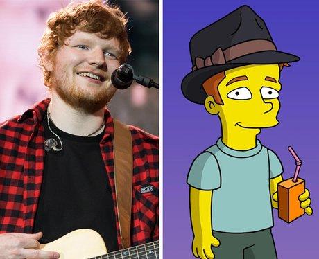 Ed Sheeran in the Simpsons